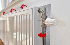 Тепловой экран за радиатором повысит температуру в квартире на 1-2 градуса