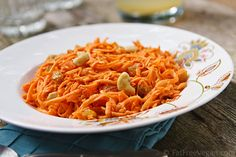 Tricia ☥ Vicious: Cashew Carrot Salad. By far my favorite sweet treat! This is a great recipe! #vegan