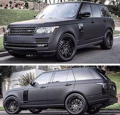 2015 Range Rover Matt Black for upstate house Range Rover Black, Range Rover Sport, Range Rovers, My Dream Car, Dream Cars, Matte Cars, Matte Black Cars, Automobile, Car Goals