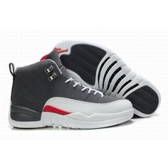 Best Sale Air Jordan Retro 12 XII Playoffs Men Grey/White Shoes For $69.90 Go To:  http://www.basketball-mall.com