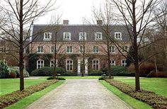 Eikenhorst on De Horsten estate in Wassenaar is the home of the Prince of Orange,...now King Willem-Alexander and his family ~ Netherlands