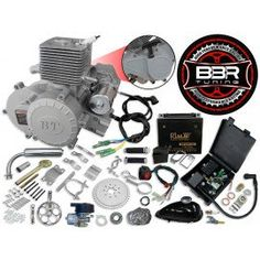 If you're looking for a performance engine that'll last, look no further than our Black BBR Tuning motor bicycle engine kit! Perfect for those comfortable with faster engines and have a desire to get up and go, the BBR Tuning bicycle motor kit wil Bike Motor Kit, Moped Motor, Bicycle Engine Kit, Bike Kit, Gas Powered Bicycle, Bike Deals, Beach Cruiser Bikes, Beach Cruisers, Motorised Bike