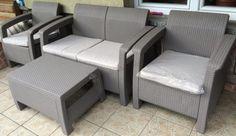 CORFU SET, cappuccino-homok színben, asztal, 2 fotel, kanapé