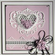 Fillables Collection Jewelled Heart Die-Sue Wilson Dies - Fillables Collection - Jewelled Heart Fillables dies includes items that have been designed to work with our treat cups. Create a fillable heart for your card or layout with this die set. Hand Made Greeting Cards, Making Greeting Cards, Wedding Day Cards, Spellbinders Cards, Sue Wilson, Card Making Techniques, Shaker Cards, Marianne Design, Heart Cards