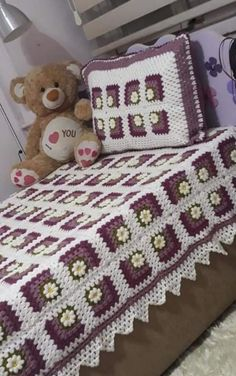 Crochet Furniture, Birthday Wishes For Son, Crochet Bedspread, Love Crochet, Bed Spreads, Bed Sheets, Blankets, Projects To Try, Crochet Patterns