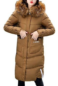 5792eef191b7 La Vogue Womens Winter Warm Fur Hooded Long Coat Quilted Parka Puffer Jacket  US 46 S