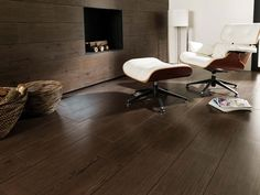Wood effect tiles. PAR-KER™ wood effect tiles are a highly valued option when choosing a flooring material not only due to its attractiveness and resistance Ceramic Floor Tiles, Wall Tiles, Tile Floor, Wood Effect Tiles, Hardwood Floors, Flooring, Salon Design, Bathroom Wall, Living Room