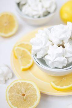 Lemon & Lavender Meringue Cookies