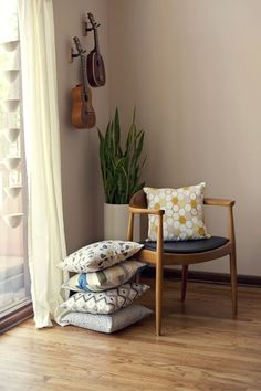 Amanda from Wit & Whistle has turned her lovely designs into throw pillows. Instant love!