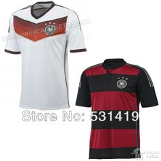 Germany Jersey 2014 World Cup Germany Away Jersey Best Thai Quality Ozil Rues Gotze Schweinsteiger Germany Soccer Jersey $28.50 - 29.50