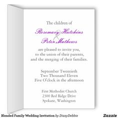 Second marriage marriage vows invitation wording and weddings blended family wedding invitation greeting card filmwisefo