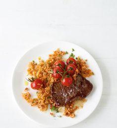 Tomaten-Couscous mit Steak Rezept - [ESSEN UND TRINKEN]