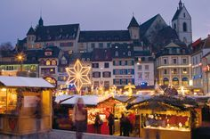 The Basel Christmas market is one of the most beautiful in Switzerland