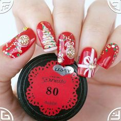 Red nails designs are acutely popular, but why? Truly, ask any adult about the ideal nail bark for her manicure. Red Nail Designs, Winter Nail Designs, Halloween Nail Designs, Great Nails, Fun Nails, Winter Nails, Summer Nails, Nailart, Cool Girl Style