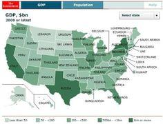 32    追蹤橘報: 切換至简体 一張圖告訴你:與中、美各省各州 GDP 相當的國家