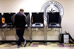 "Jeffrey Toobin weighs in on the recent changes in Texas and Wisconsin voter-I.D. laws: ""It's a depressing spectacle, but not a hopeless one."" http://nyr.kr/1DWuea4 (Photograph by Eric Gay/AP)"