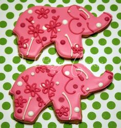 lily pulitzer inspired cookies