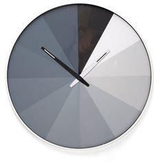 Kikkerland Design Inc » Products » Wall Clock + Ultra Flat Clock idea with color wheel!
