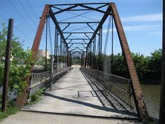 Sylvan Island bridge in Moline Illinois