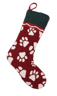 Bold and chunky, these hooked wool stockings are a treasure! We especially love the bright red velvet stocking cuff. You won't find a better way to honor your dog at Christmas! With plenty of room for Dog Christmas Stocking, Christmas Stocking Holders, Knitted Christmas Stockings, Christmas Knitting, Christmas Ideas, Pet Stockings, Christmas Fireplace, Dog Paws, Decorative Pillows