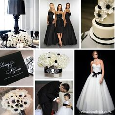Black and white tuxedo wedding. Checkout the centerpiece on the upper left corner! Black modern lamp surrounded by anemones and black glassware. Brilliant! Black And White Wedding Theme, Black And White Colour, Black Cream, Wedding Themes, Wedding Events, Wedding Dresses, Wedding Cakes, Wedding Bouquet, Wedding Color Schemes