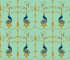 RococoPeacock fabric by yvonne_herbst on Spoonflower - custom fabric