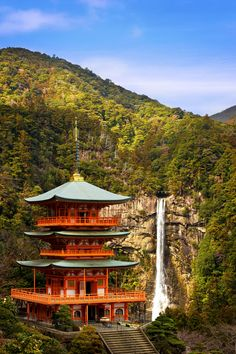 bluepueblo:      Waterfall Temple, Wakayama, Japan      photo by www.jasonarney.com
