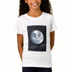 T-Shirt WHIMSICAL MOON Man On The Moon, Twin Girls, Sticker Shop, Custom Clothes, Colorful Shirts, Boy Or Girl, Whimsical, Shop Now, Bring It On
