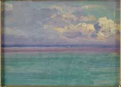 """From Gay Head to Sea,"" Arthur Wesley Dow, oil on board, 8 x 11"", private collection."