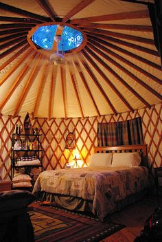 Yurt camping on the Oregon coast is a great way to spend some time this summer / Que cool tener este traga luz ...