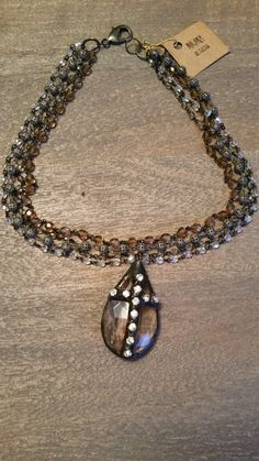 "18"" multi layer (4) hand wired rosary chains with 2"" chandelier crystal rhinestone cross pendant hand soldered in my studio, dark patina added for an elegant effect. I have detailed the crystal on the back as well."