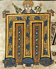 Book/Manuscript: Book of Kells VII Century, Ireland / Scotland Page (Folio): 12r initial letter M with man