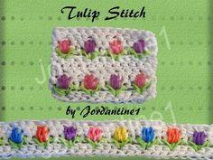 New Tulip Flower Stitch - Rainbow Loom - Hook Only - Loomigurumi - Bracelet, Headband - YouTube