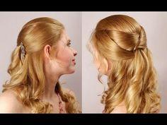 Прическа на выпускной на длинные волосы. Romantic prom hairstyle for long hair
