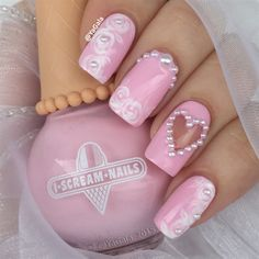 Romantic Nail Design  by Yagala from Nail Art Gallery