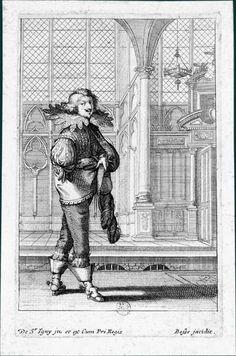 Abraham Bosse d'après Jean de Saint-Igny (v. 1597-1647)La Noblesse française à l'église, v. 1629 : Un homme marchant vers la droite