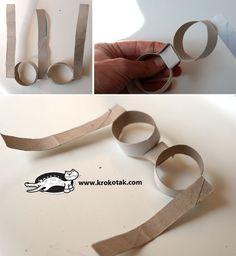 Слънчеви очила за декорация от празна ролка тоалетна хартия | krokotak