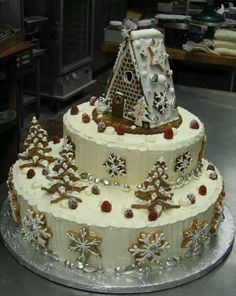most creative cakes 2016 Christmas Cake Designs, Christmas Cake Decorations, Holiday Cakes, Christmas Desserts, Christmas Baking, Christmas Cookies, Beautiful Cakes, Amazing Cakes, Different Cakes