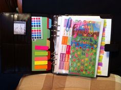 my Filofax - the dashboard :) - I think this looks really nice, and I like the idea to call it a 'dashboard'.