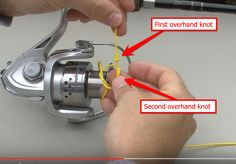 How to spool a spinning reel http://thefishingway.com/how-to-spool-a-spinning-reel/