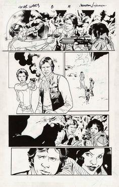 Fanfare :: For Sale Artwork :: Star Wars by artist Stuart Immonen