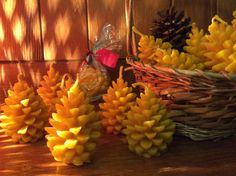 Christmas Beeswax Cone Candles