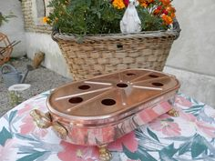 Vintage French Copper Pan.  Large Food / by AngelFrenchAntiques