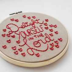 Delight Yourself in the Lord - Free Scripture Embroidery Pattern