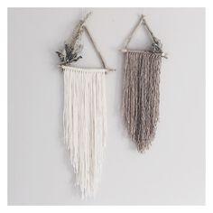 Juniper + Briar Set of 2 triangle dreamcatchers // boho wall hanging // boho dreamcatcher // bohemian wall fringe