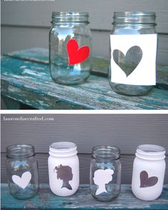 decorated jars, bags, whatever.  Use a drop of dishwashing liquid in paint to get it to stick to plastic & glass