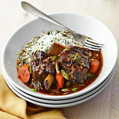Short Ribs Braised with Ginger and Soy (Williams-Sonoma): Fresh ginger lends a refreshing note to braised beef short ribs. Here, the dish is prepared in a Cuisinart multicooker