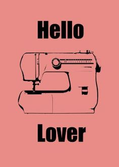 lover sewing machine {Printable}