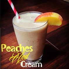 Peaches n' Cream Smoothie from the Tone It Up Nutrition Plan.