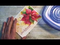 Video Tutorial: Hand Painted Watercolor Poinsettia & Embossed Sentament Christmas Card | Rick D. Adkins (Artist & Independent Stampin' Up! Demonstrator)